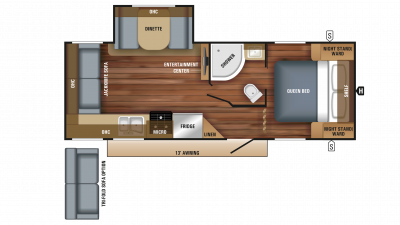 2018 Jay Feather 23RL Floor Plan
