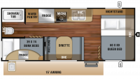 2019 Jay Feather 20BH Floor Plan