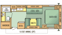 2003 Jay Flight 24FB Floor Plan