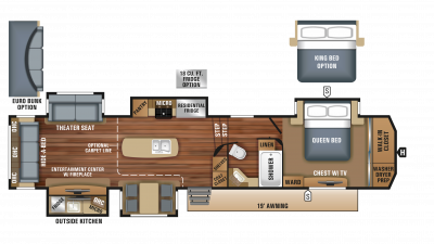 2018 North Point 361RSFS Floor Plan