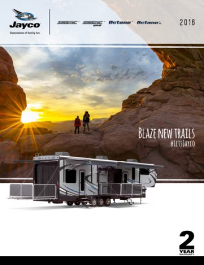 2016 Jayco Seismic RV Brand Brochure Cover