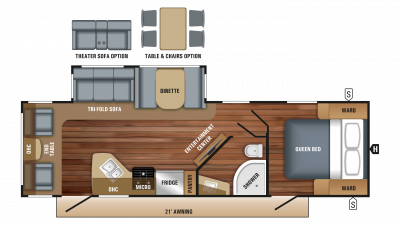2018 White Hawk 28RL Floor Plan