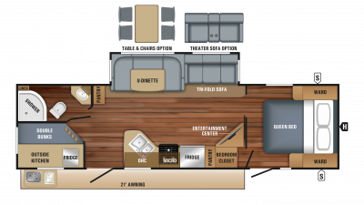 2018 White Hawk 29BH Floor Plan