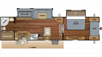 2019 White Hawk 32KBS Floor Plan