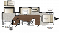 2011 Outback 312BH Floor Plan