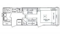 1999 StarLite 26RB Floor Plan
