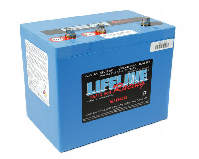 16 Volt 3 Post Battery