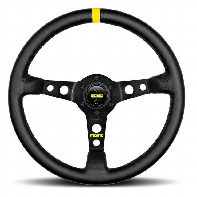 MOD 07 Steering Wheel Black Leather