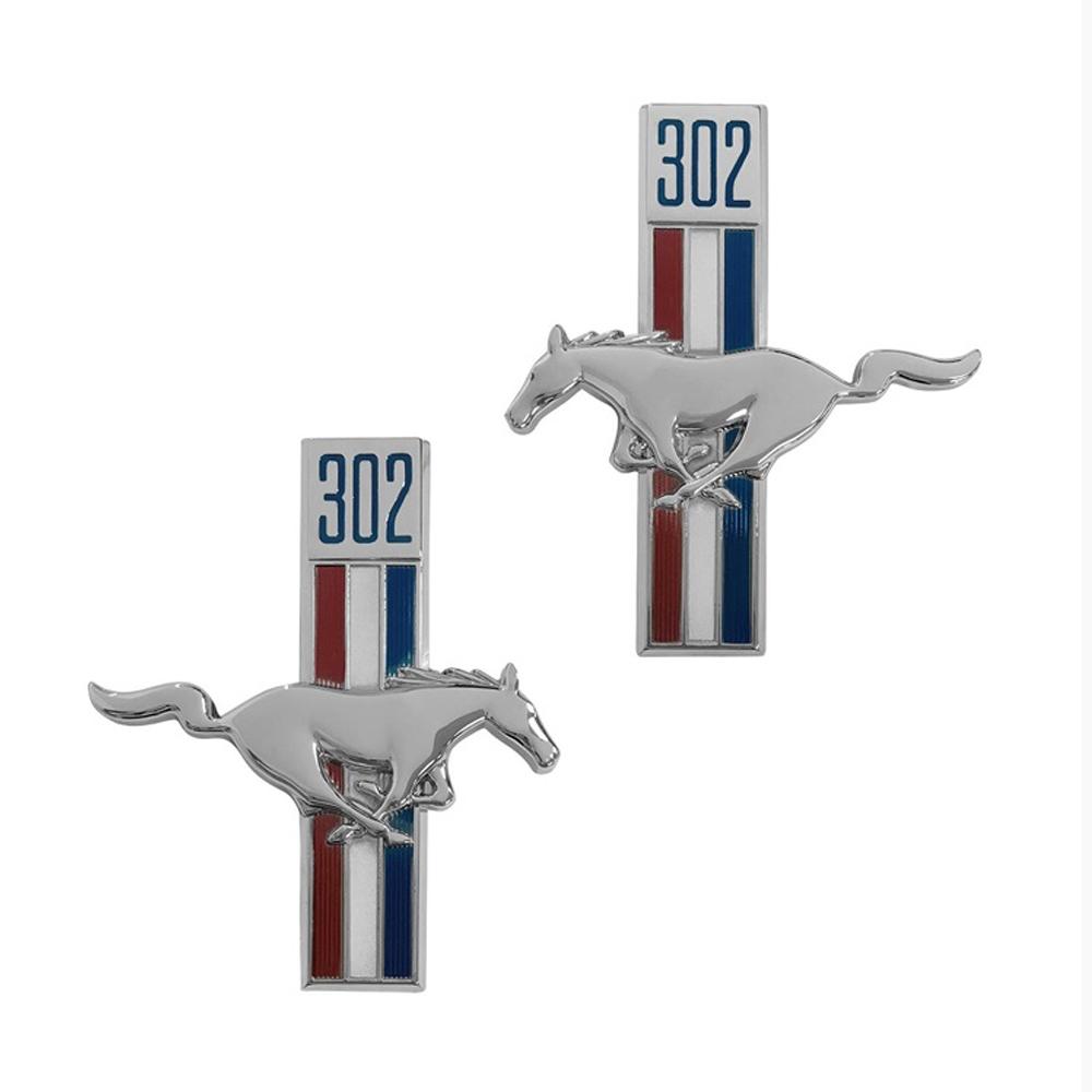302 Running Horse Fender Emblems w/Adhesive Back