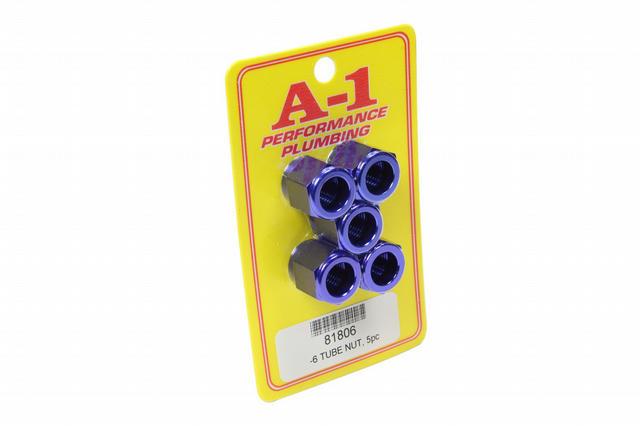 #6 AN Aluminum Tube Nut 5pk