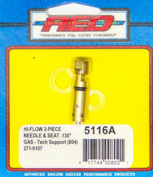 .140 Bottom Feed Hi-Flow Needle & Seat - Each