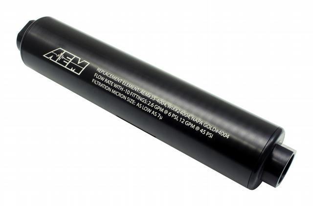 Universal High Volume Fu el Filter. Inlet: -10AN