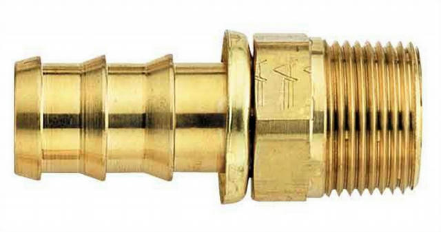 #8 Socketless Hose To 3/8 Male Pipe Fitting