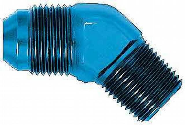 Adapter Fitting 45 Deg Alum #10 flare 1/2 Pipe