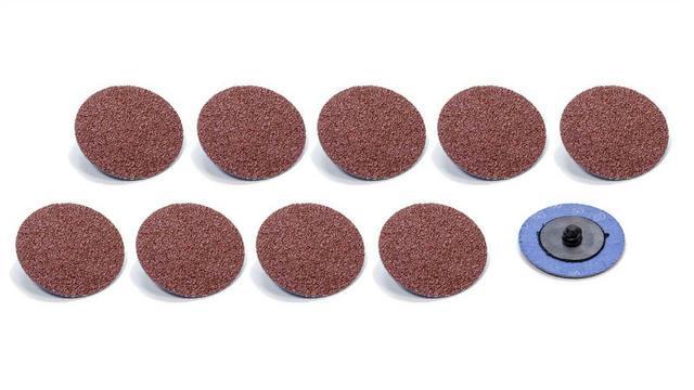 Twist Lock Sanding Disc 2in 60 Grit 10pk