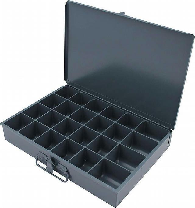 Metal Storage Case 24 Comp 9.5x13.5x2