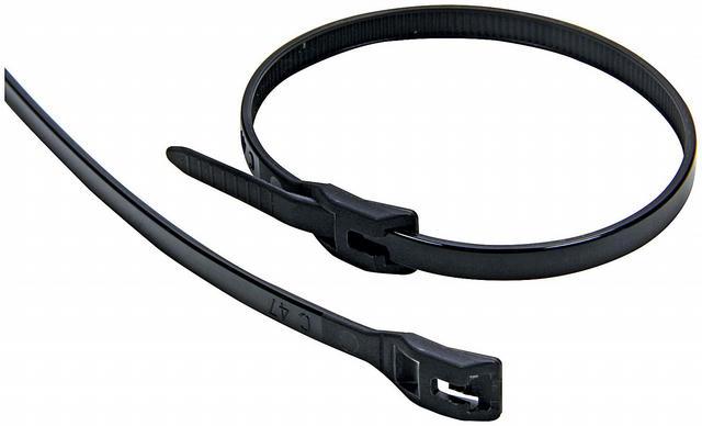 Wire Ties Black 11.00 Flush Fit 100pk