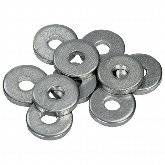 1/8in Back Up Washers 500Pk Aluminum