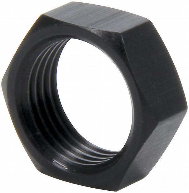 3/4-16 RH Alum Jam Nuts Thin OD Black 4pk