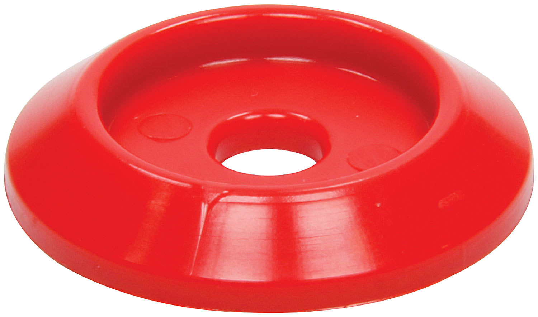 Body Bolt Washer Plastic Red 10pk