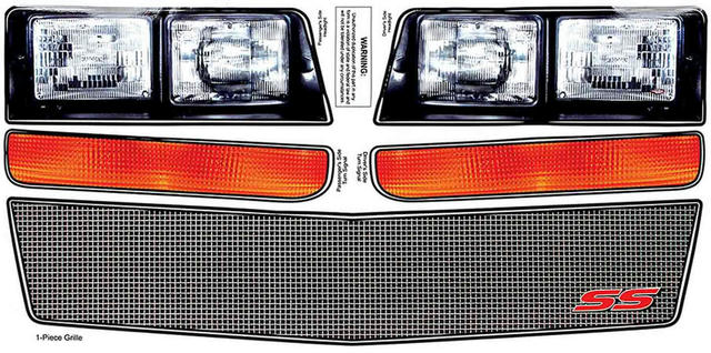 M/C SS Nose Decal Kit Mesh Grille 1983-88