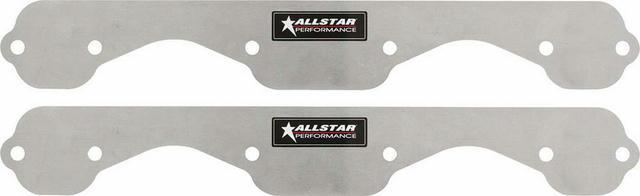 Exhaust Block Off Plates SBC Std 1pc Aluminum