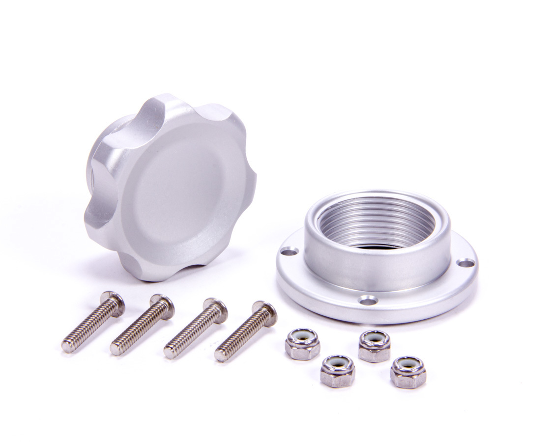 Filler Cap Silver with Bolt-In Alum Bung Small