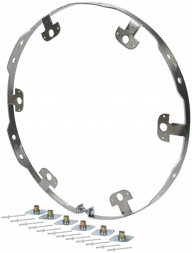Wheel Ring Flat Style Alum 6 Fastener Bolt-on