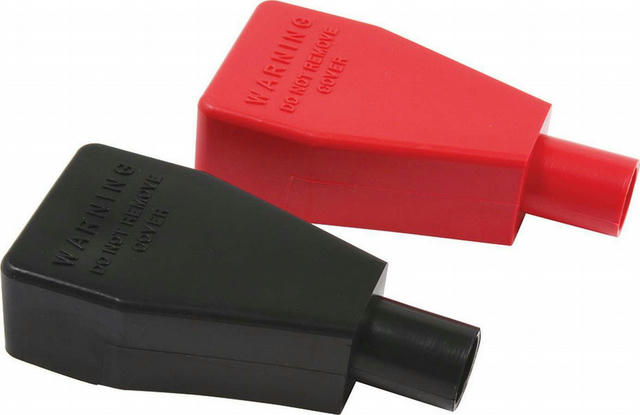 Battery Terminal Covers Red/Black 1pr