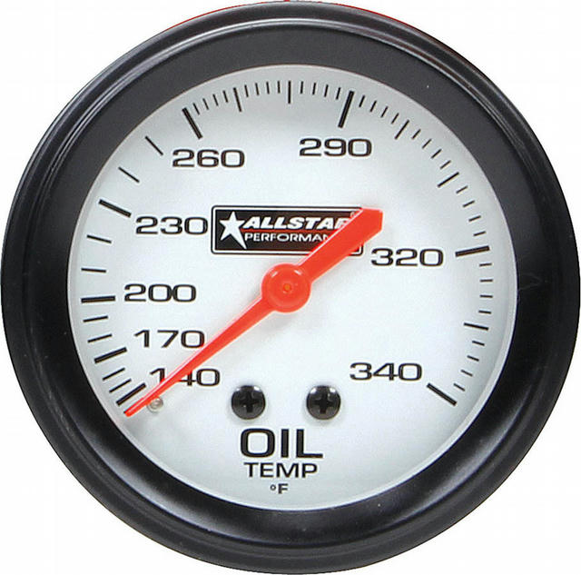 ALL Oil Temp Gauge 140-340F 2-5/8in