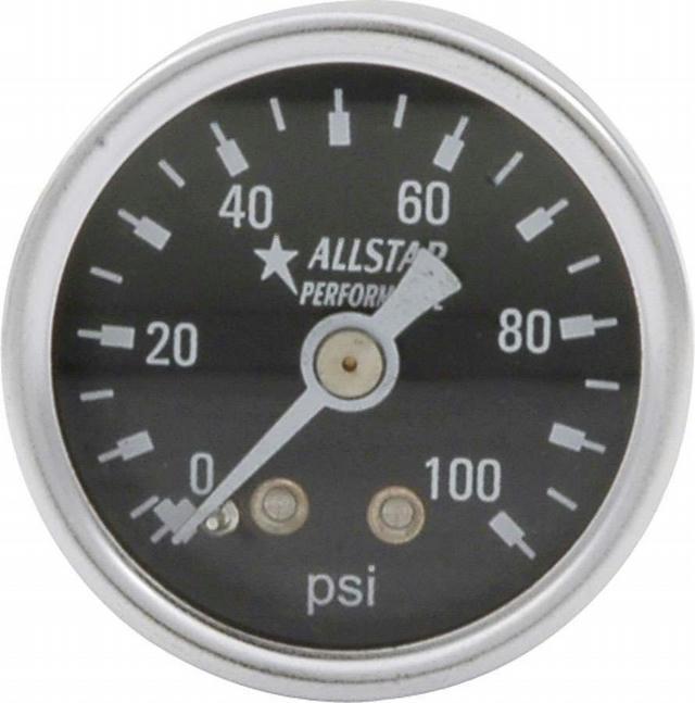 1.5in Gauge 0-100 PSI Dry Type