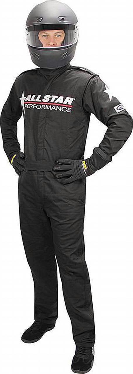 Allstar Race Suit Black Med 1pc 2 Layer