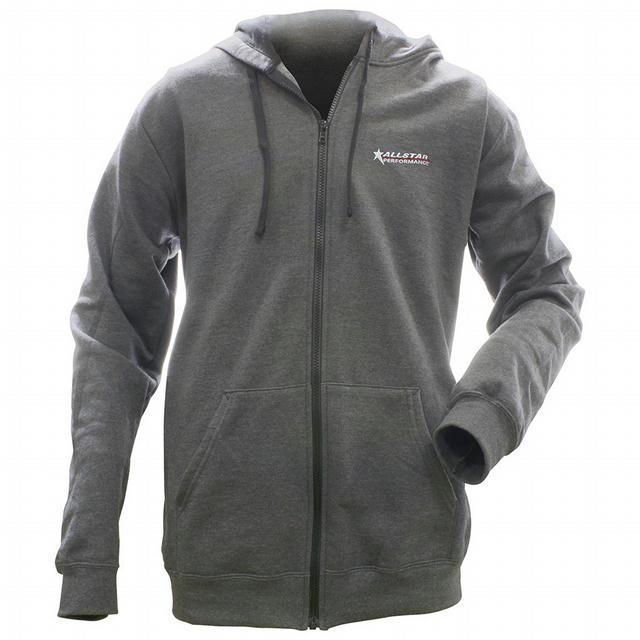 Allstar Full Zip Hooded Sweatshirt Charcoal S