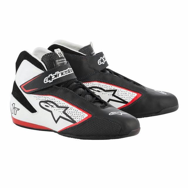 Tech 1-T Shoe Black / White / Red Size 8