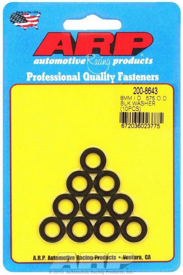 Black Washers - 8mm ID x .575 OD (10)