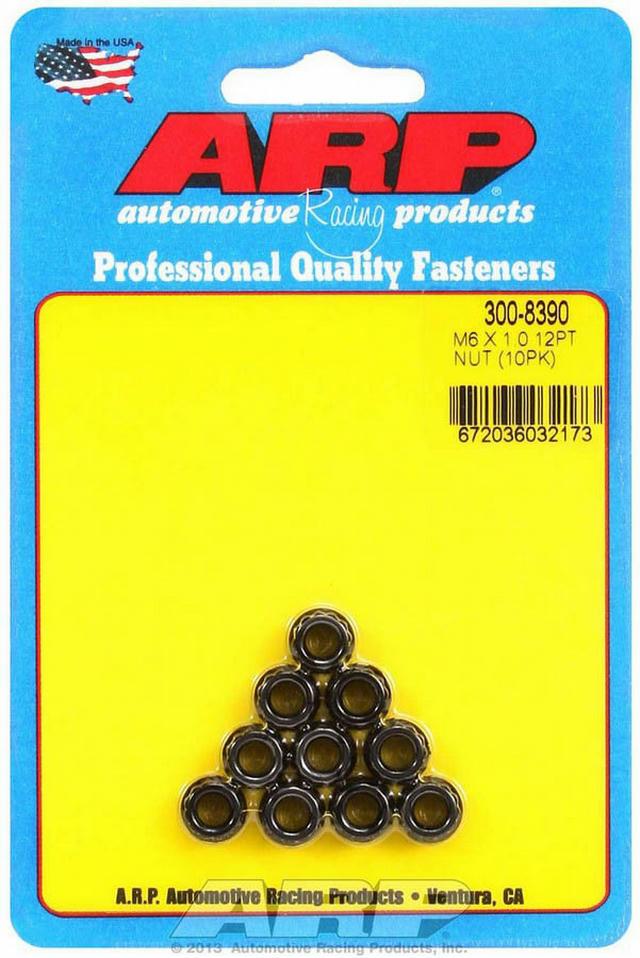 6mm x 1.00 12pt. Nuts (10)
