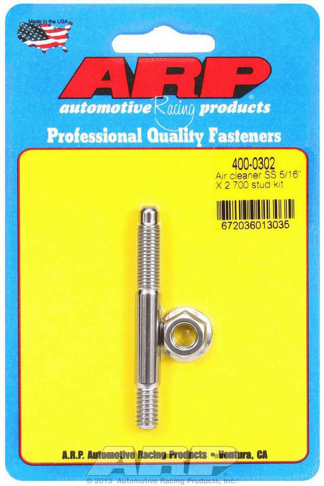 Air Cleaner Stud Kit - 5/16 x 2.700 S/S