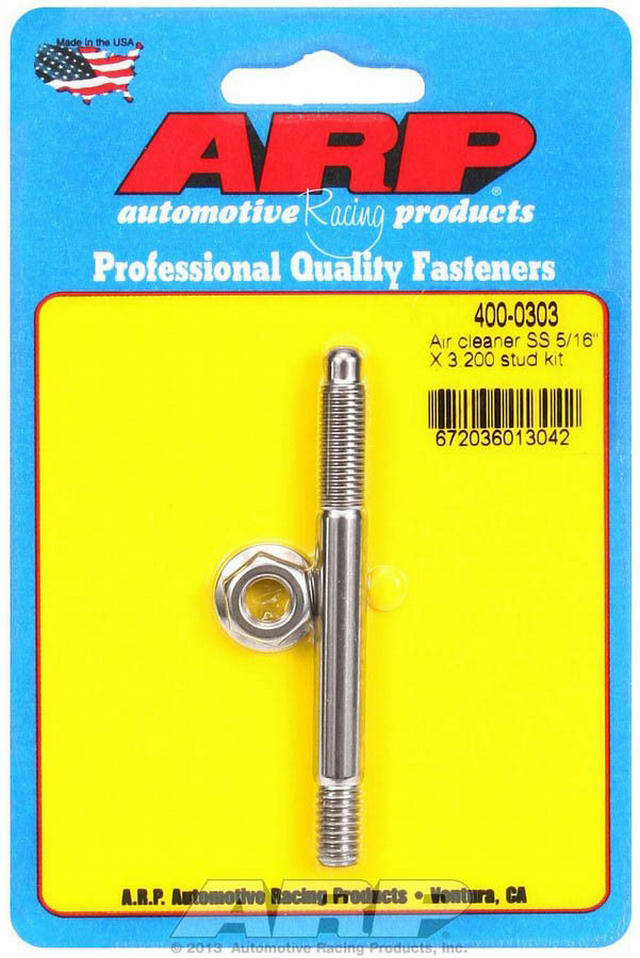 Air Cleaner Stud Kit - 5/16 x 3.200 S/S