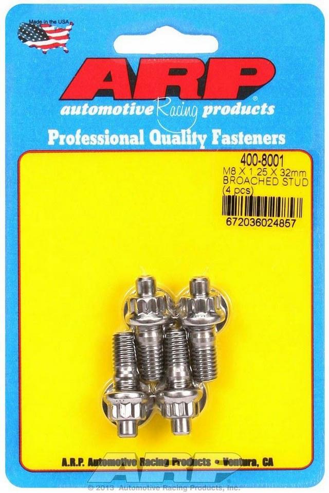S/S Stud Kit - (4) M8 x 1.25in x  32mm