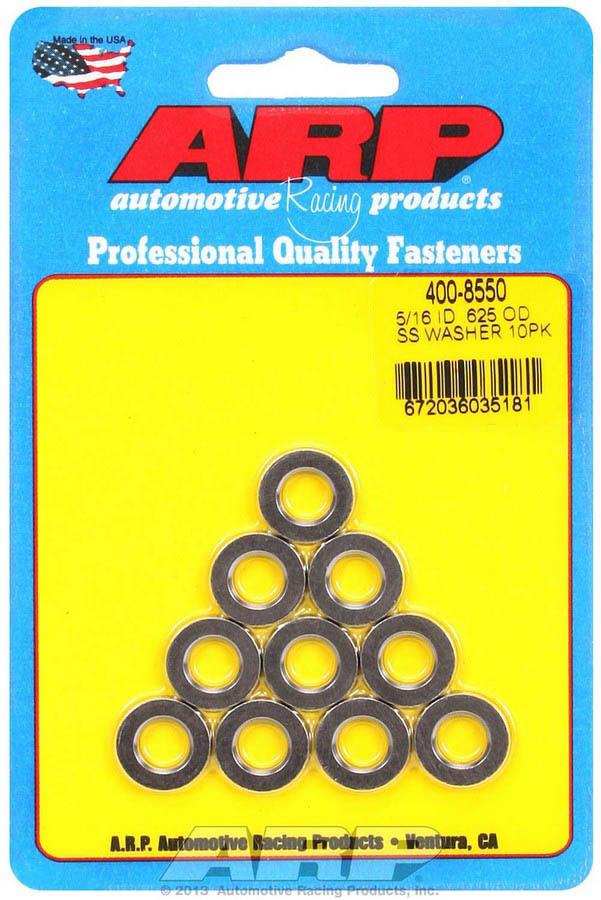 S/S Flat Washers - 5/16 ID x .625 OD (10)
