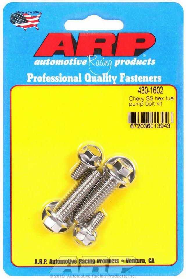 S/S Chevy Fuel Pump Bolt Kit 6pt.