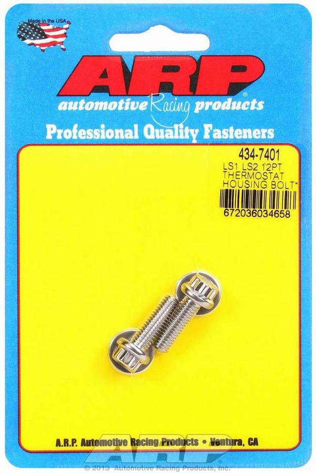 S/S Thermostat Hsg. Bolt Kit - 12pt. LS1/LS2
