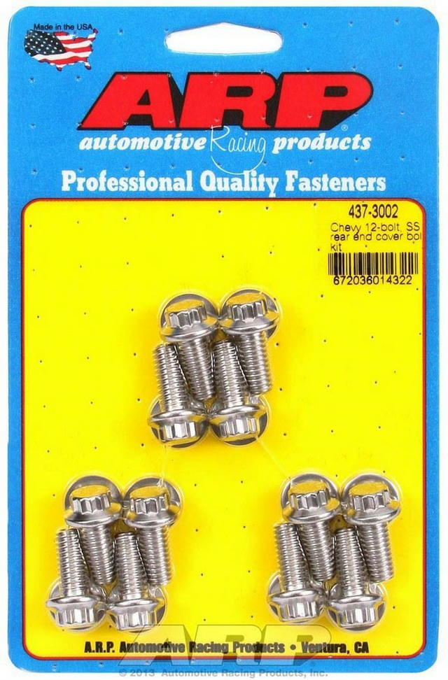 S/S Rear End Cover Bolt Kit - 12-Bolt Chevy