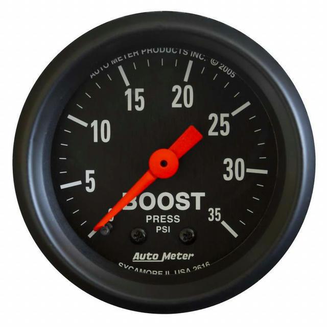 2-1/16in Z-Series Boost Gauge 0-35psi