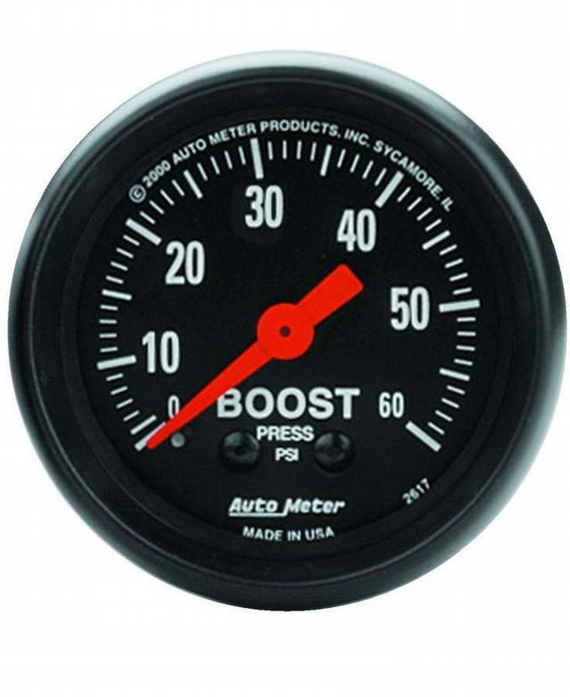 2-1/16in Z-Series Boost Gauge 0-60psi