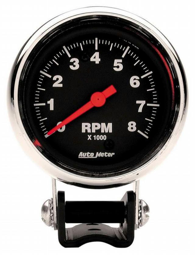 2-5/8in Chrome Tach 8000 RPM