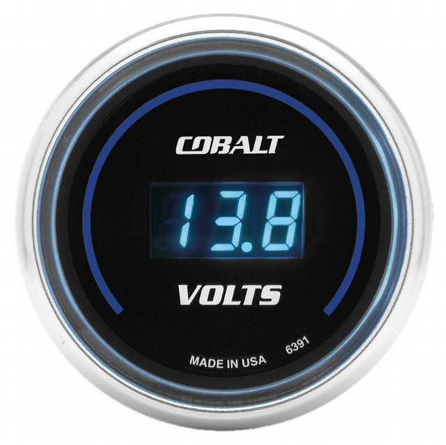 2-1/16in C/S Digital Voltmeter Gauge 8-18 Vol
