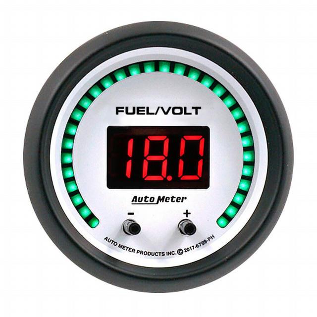 2-1/16 Fuel/Volt Gauge Elite Digital PH Series