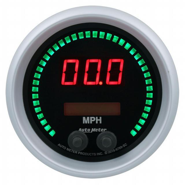 3-3/8 Speedometer 260mph Elite Digital SC Series