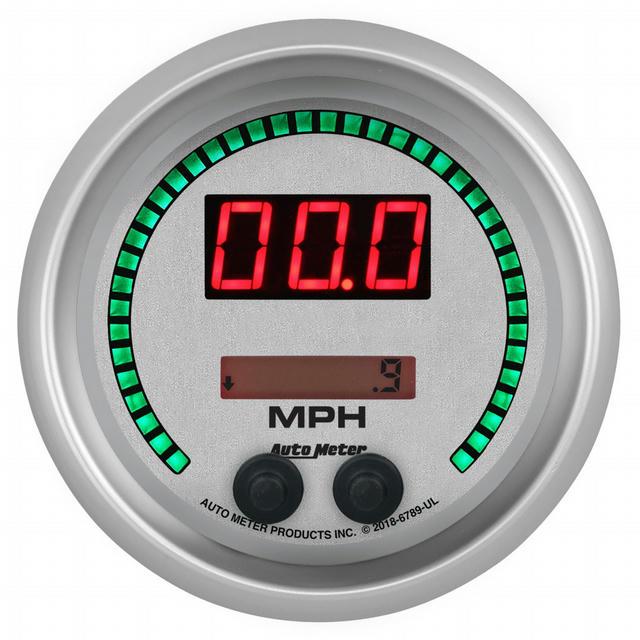 3-3/8 Speedometer 260mph Elite Digital UL Series